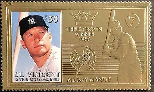 1997 St. Vincent – Mickey Mantle, 23k Gold