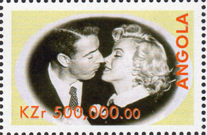 1999 Angola – Great People of the 20th Century, Joe DiMaggio & Marilyn Monroe