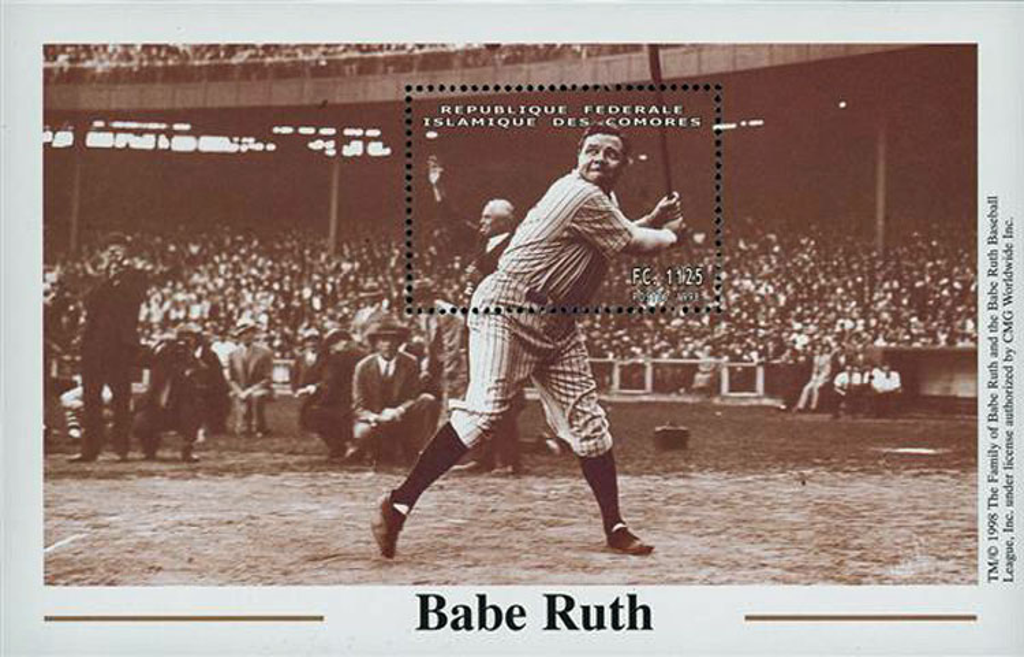 1998 Comores – Babe Ruth batting