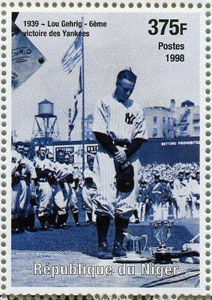 1999 Niger – Events of the 20th Century, Lou Gehrig