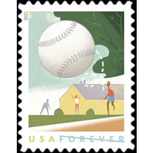 2021 USA – Backyard Games Postage Stamp, baseball