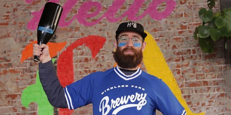 Bob Kunz of Highland Park Brewery Ready for Baseball