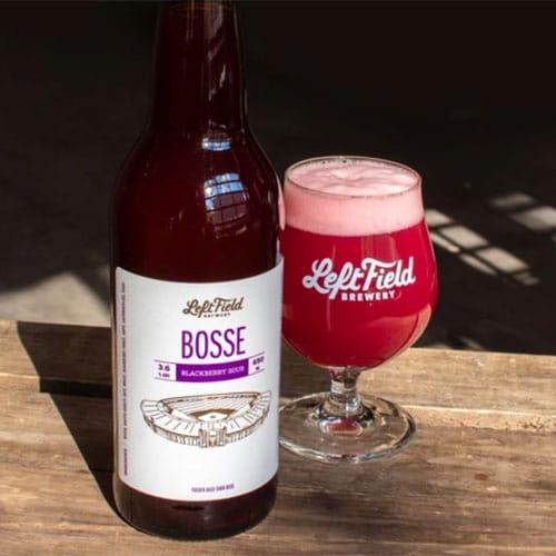 Bosse Blackberry Sour in a Glass by Left Field Brewing