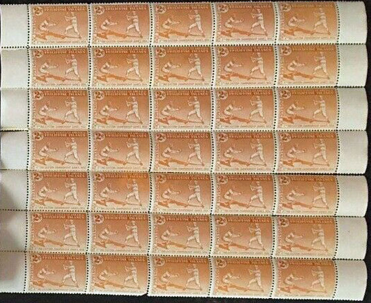 1934 Philippines Postage Stamp Sheet – 10th Far Eastern Championship Games
