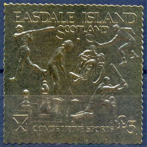 1992 Scotland – Easdale Island, Competitive Sports, Gold Stamp