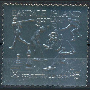 1992 Scotland – Easdale Island, Competitive Sports, Silver Stamp