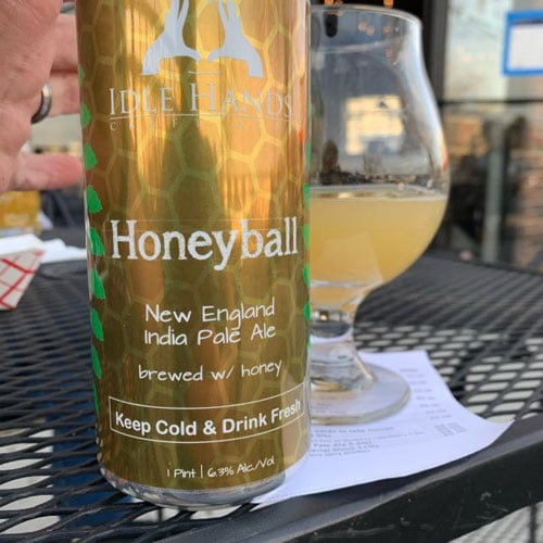 Honeyball IPA by Idle Hands Brewing